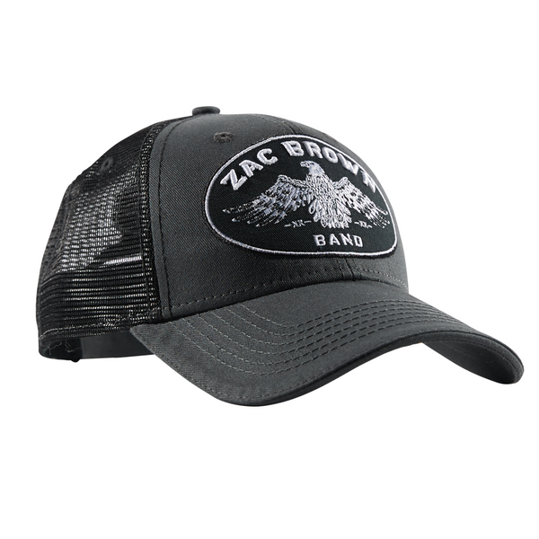 Gray/Black Eagle Hat