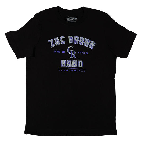 2017 Coors Field Black T-Shirt