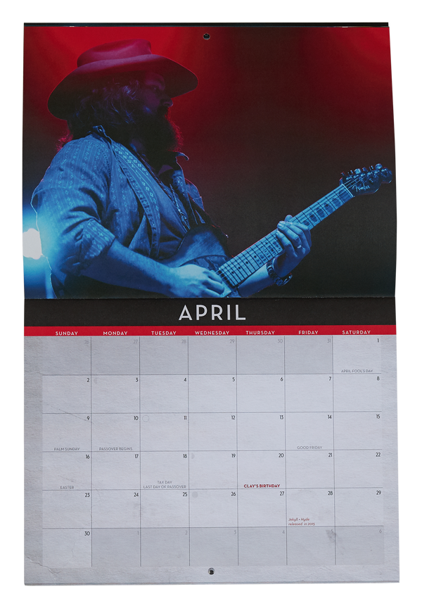2017 Zac Brown Band Calendar
