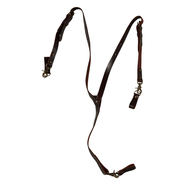 Zac Brown Signature Leather Suspender-Brown