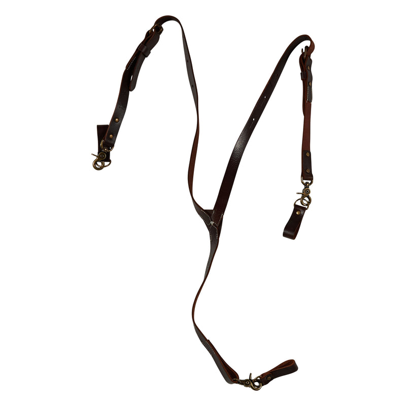 Leather Suspender - Brown