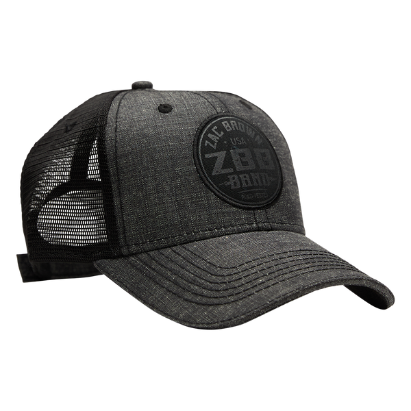 Gray Black Patch Hat