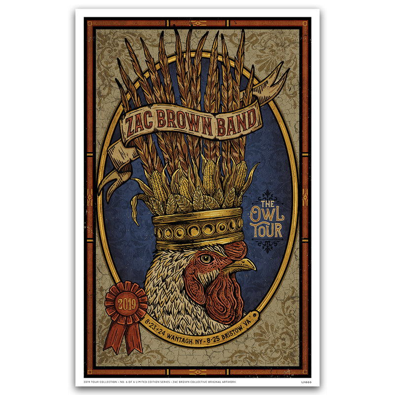 2019 Zac Brown Band Tour Print #6