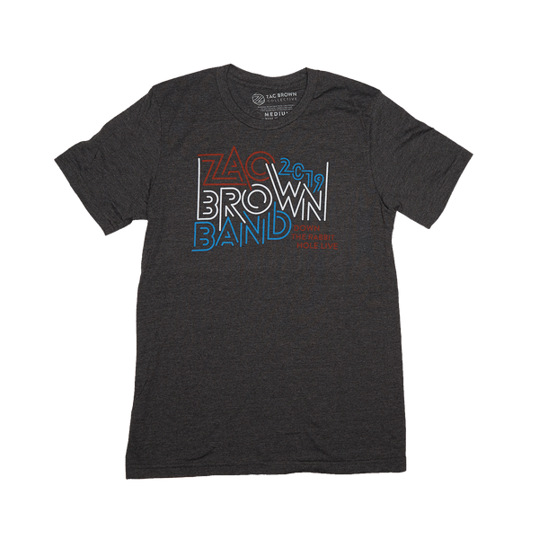 8628d5cc ... Zac Brown Band: Down the Rabbit Hole 2019 USA Maze Tee by Zac Brown Band