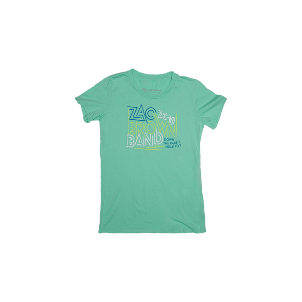 Zac Brown Band:Spring 2019 Colorful Mint Maze Women's Tee Front