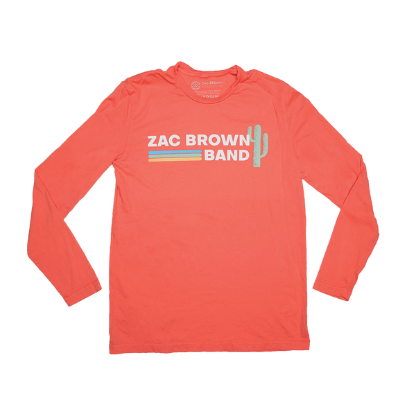 Zac Brown Band: Down the Rabbit Hole 2019 Coral Cactus Long Sleeve