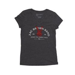 2019 Women's Rabbit V-Neck Tour Tee by Zac Brown Band