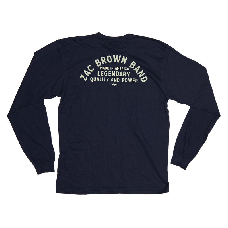 Legendary Zac Brown Band Long Sleeve Tee by Zac Brown Band Back Print
