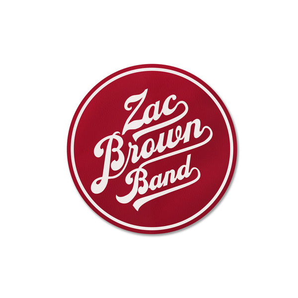 ZBB Red Circle Logo Sticker