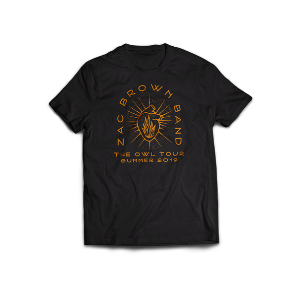 "The Owl Tour: Zac Brown Band ""Heart on Fire"" Tee by Zac Brown Band"