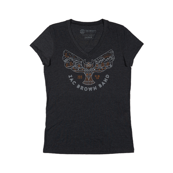 2019 Owl Tour Women's OwlTopia V-Neck Tee