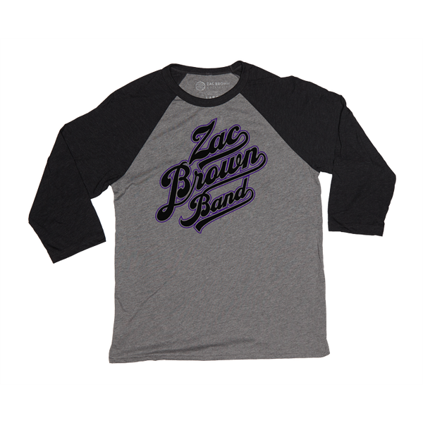 ZBB Gray and Purple Baseball Tee