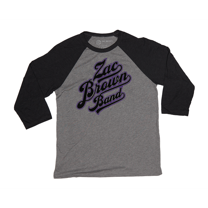 ZBB Grey and Purple Baseball Tee