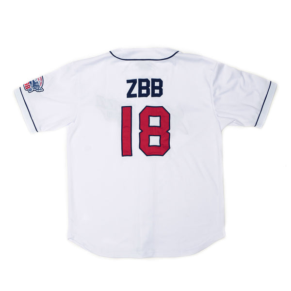 2018 ZBB Tour Jersey- White/Navy & Red