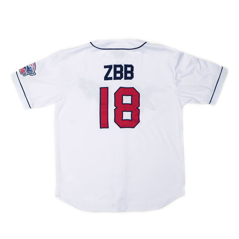 2018 ZBB Tour Jersey- White/Navy & Red by Zac Brown Band