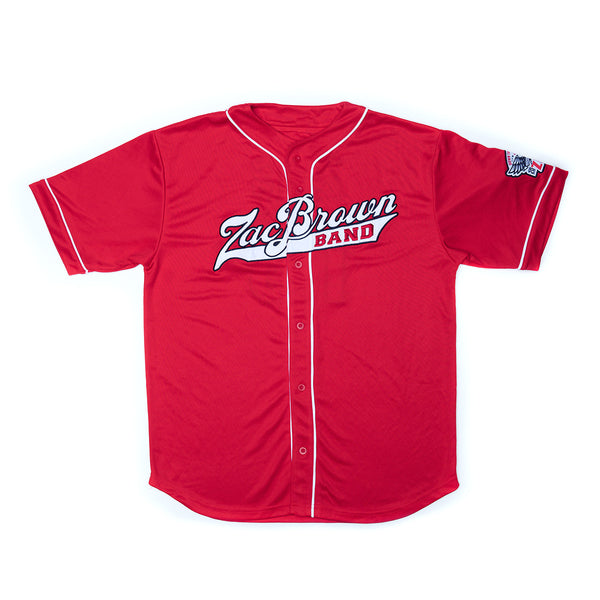 2018 ZBB Tour Jersey- Red/White & Black by Zac Brown Band