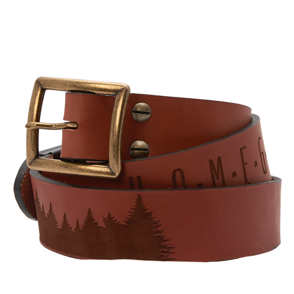 """Home Grown"" Sheehan & Co. Leather Belt"