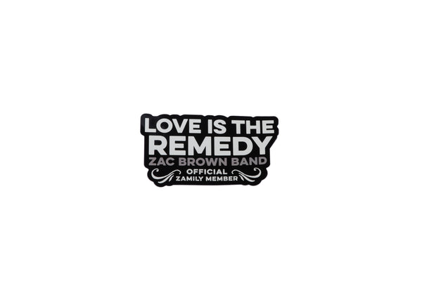Zamily 'Love is the Remedy' Sticker by Zac Brown Band