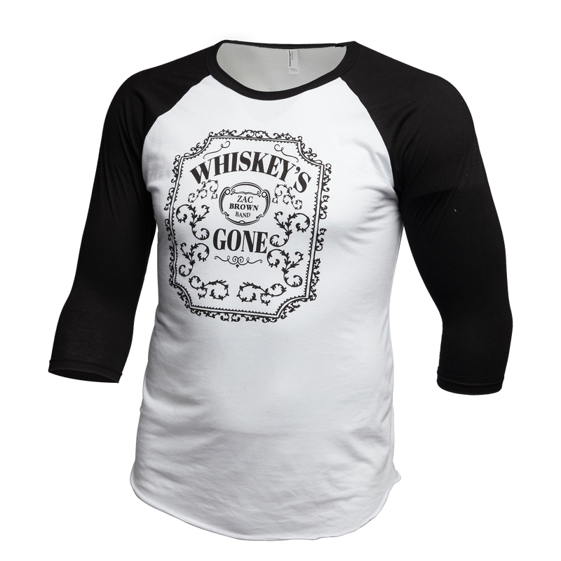 "ZBB ""Whiskey's Gone"" Raglan by Zac Brown Band"