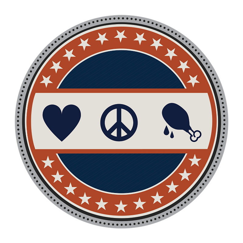 """Love, Peace, & Chicken Grease"" Challenge Coin by Zac Brown Band"