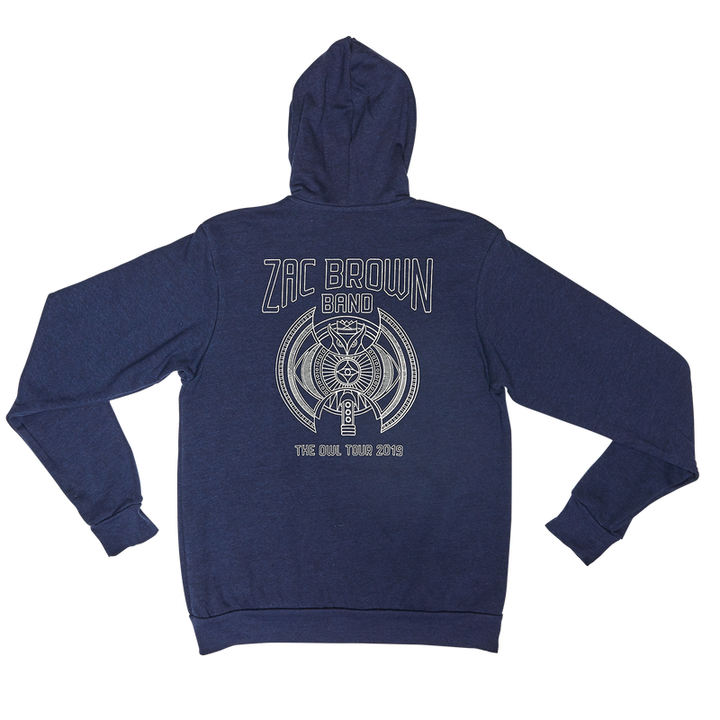 ZBB The Owl Vintage Navy Owl Hoodie Back
