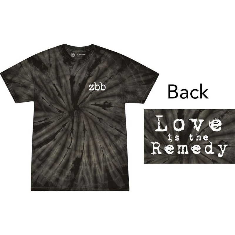 Love is the Remedy Tie-Dye T-Shirt - Black