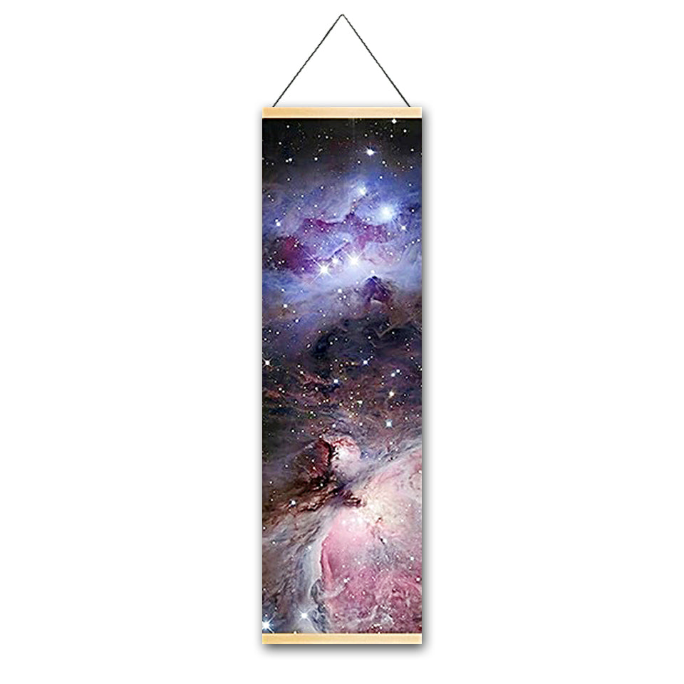 Endless Galaxy Canvas Hanging Scroll - Gleamworks