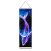 Luminous Whale Canvas Hanging Scroll - Gleamworks