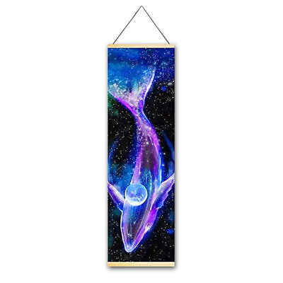 Luminous Whale Hanging Scroll - Canvas Printings - Gleamworks