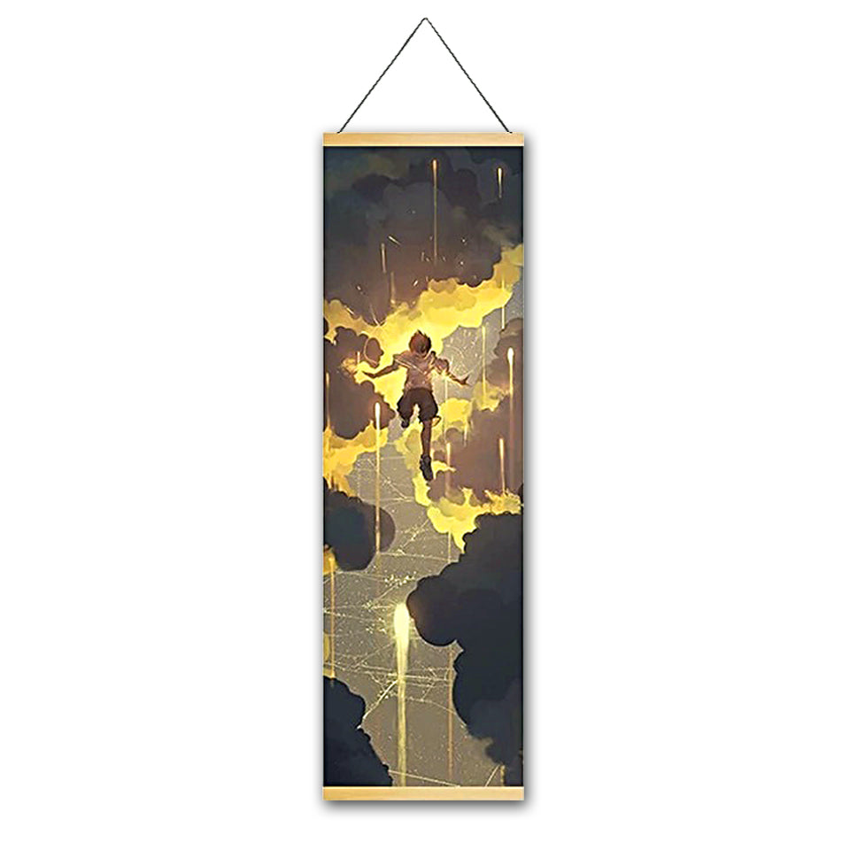 Sky Soaring Canvas Hanging Scroll