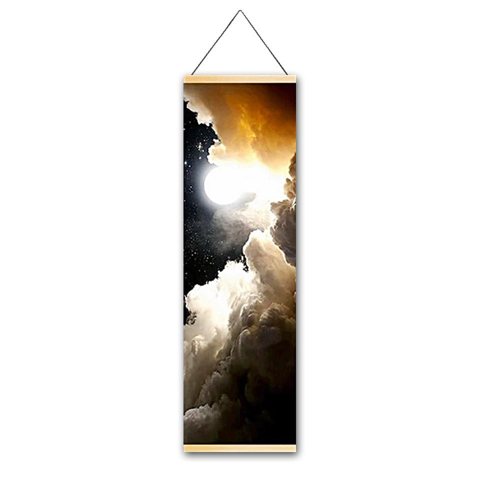 Glorious Light Canvas Hanging Scroll