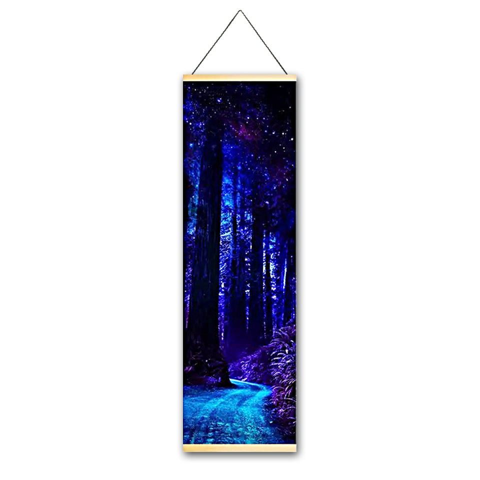 Dark Trail Canvas Hanging Scroll - Gleamworks
