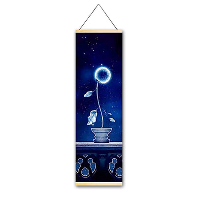 Neon Life Canvas Hanging Scroll - Gleamworks