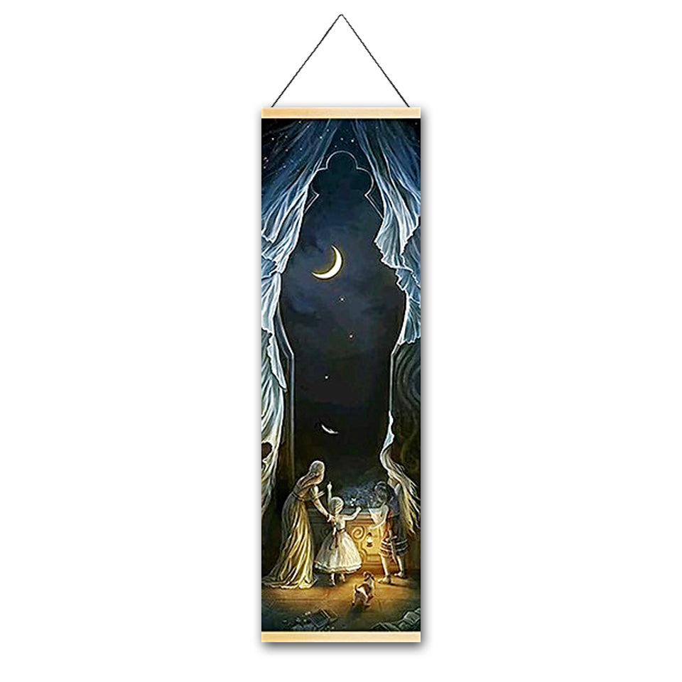 Nightfall Canvas Hanging Scroll