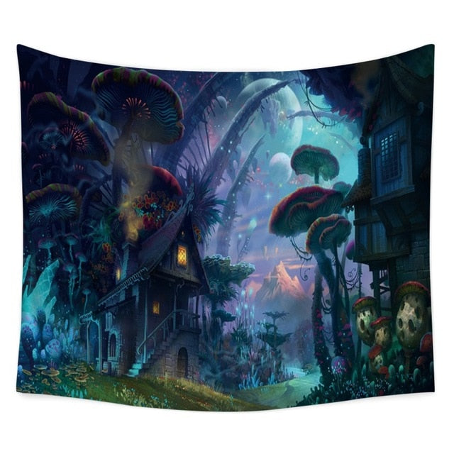 Exotic Darkness Tapestry