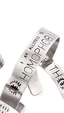 Load image into Gallery viewer, Allergy - Social Justice Message Stainless Steel Cuff Bracelet