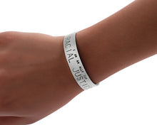 Load image into Gallery viewer, Ally - Social Justice Message Stainless Steel Cuff Bracelet