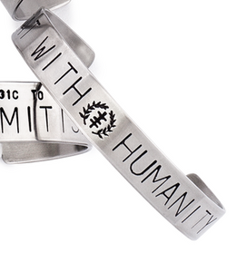 Antidote - Social Justice Message Stainless Steel Cuff Bracelet
