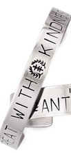 Load image into Gallery viewer, Antidote - Social Justice Message Stainless Steel Cuff Bracelet
