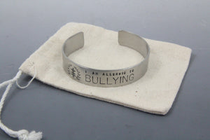 Allergy - Social Justice Message Stainless Steel Cuff Bracelet