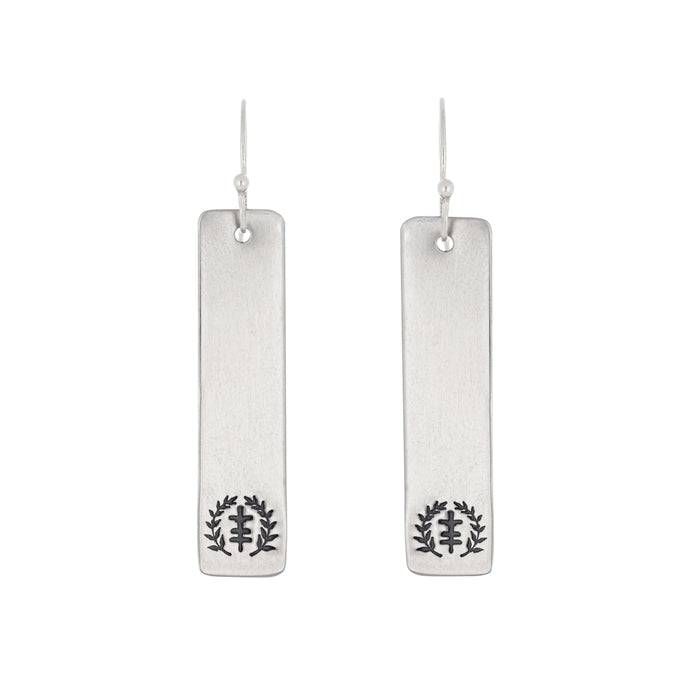 Tag Power of Peace Logo Stainless Steel Earrings