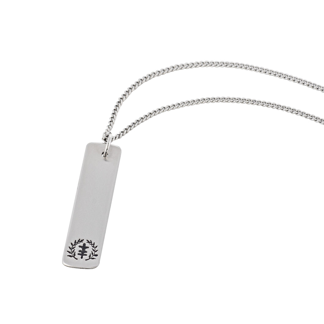 Tag Power of Peace Logo Stainless Steel Necklace