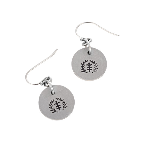 Bitsy Power of Peace Logo Stainless Steel Earrings