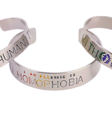 Pride Edition Allergy - Social Justice Message Stainless Steel Cuff Bracelet