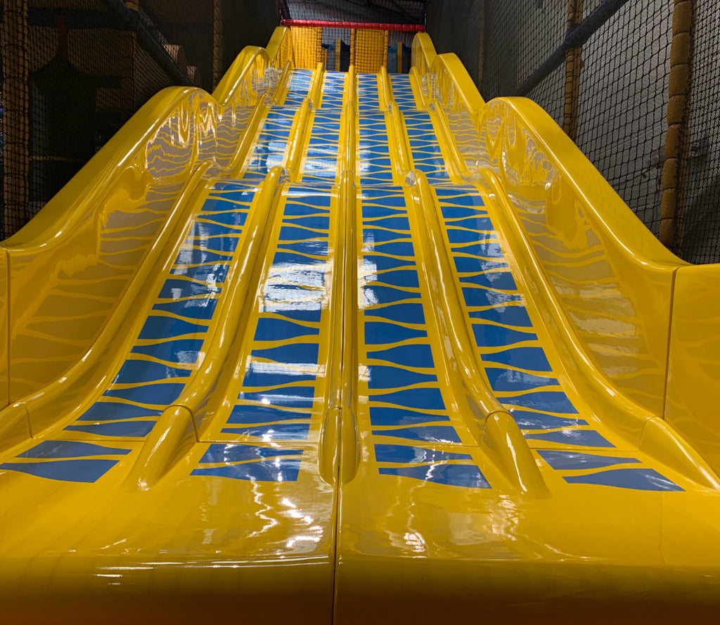 View of Ocean Adventurers soft play 5 lane astra slide
