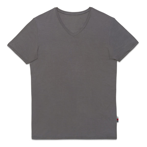 Essential V Neck - Charcoal