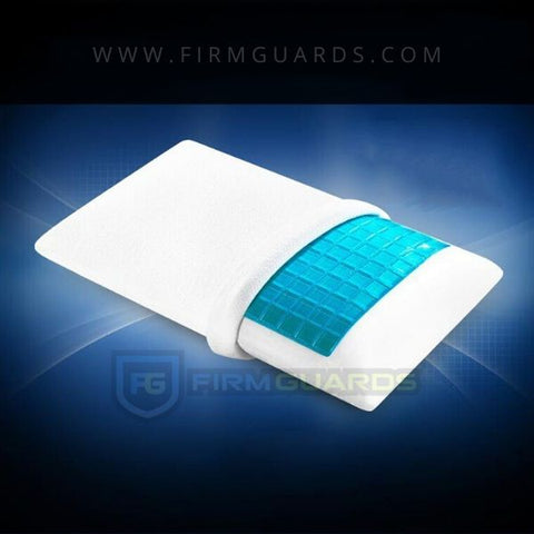 memory foam pillow with cool ice gel