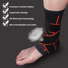 Load image into Gallery viewer, Ankle and Heel Pro Support Brace with Stabilizer Straps - FirmGuards
