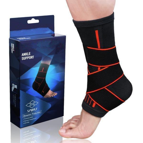 Ankle and Heel Pro Support Brace with Stabilizer Straps - FirmGuards