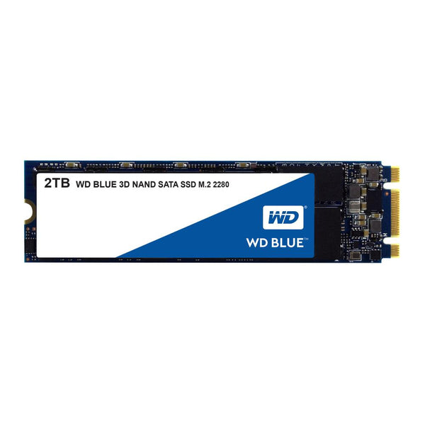 SSD|WESTERN DIGITAL|Blue|2TB|M.2|SATA 3.0|TLC|Write speed 530 MBytes/sec|Read speed 560 MBytes/sec|MTBF 1750000 hours|WDS200T2B0B
